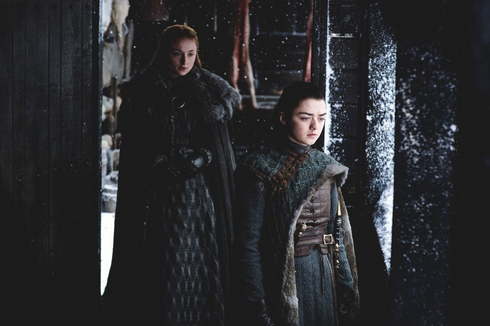 Game Of Thrones Sansa and Arya Stark