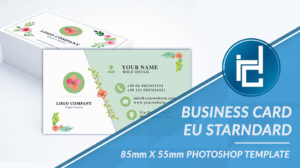 Business Card Flower Style