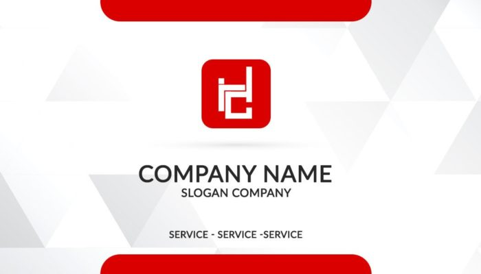 Business Card Red Color