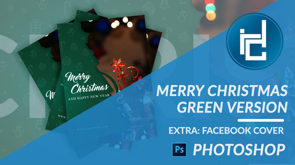Diego Maravilla Postal Merry Christmas Green Version