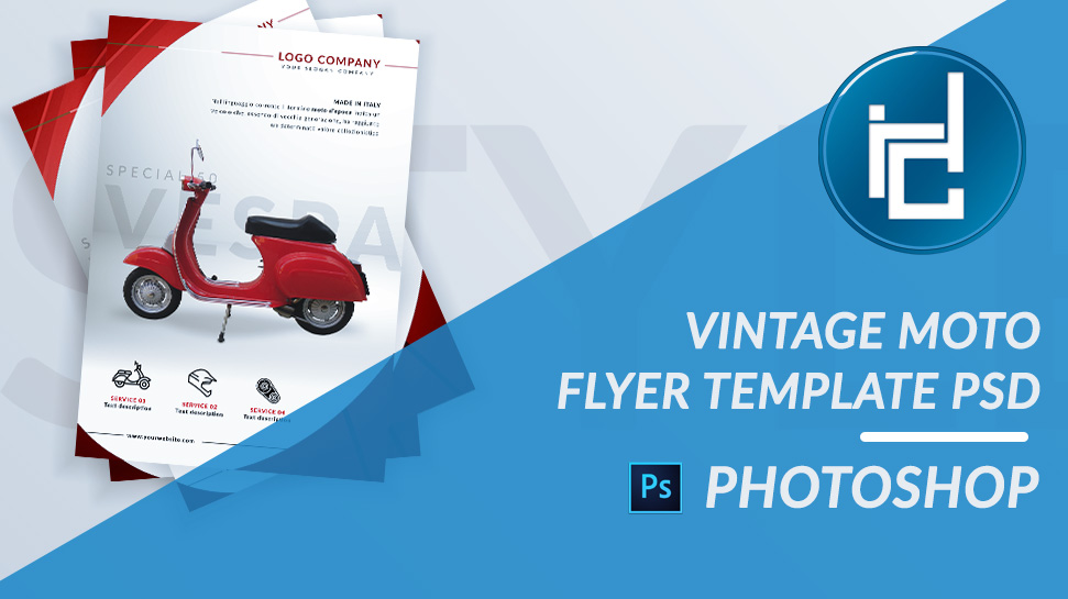 Vintage Moto Flyer Photoshop Template