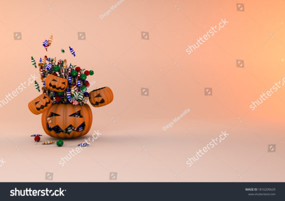 Trick or treat pumpkin halloween background