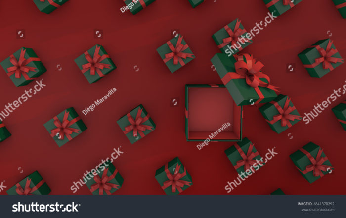 Red Christmas background by Diego Maravilla